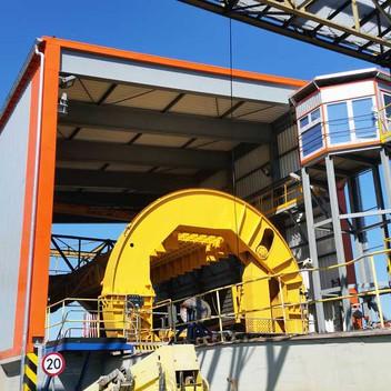 Projekt konstrukcji zabudowy wywrotnicy WW3 EDF  i prowadznie budowy