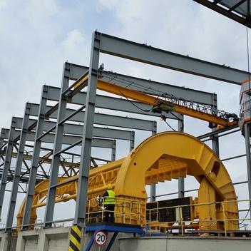 Projekt konstrukcji obudowy i konstrukcja pod kabinę EDF Rybnik