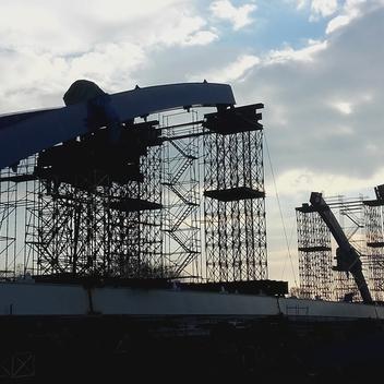 Nadzór nad budową mostu MD02 w ciągu obwodnicy Czarnowąs